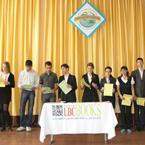 Урочиста церемонiя нагородження 109 школярiв у спеціалізованій загальноосвітній школі № 141, м. Дніпропетровськ