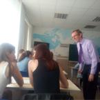 демонстраційний урок з учнями 10 та 11 класу школи №9 Оболонського району